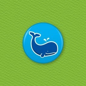 Whale Button Badge