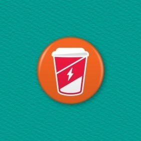 Caffeine Charge - Empty Button Badge
