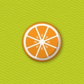 Orange Slice Button Badge