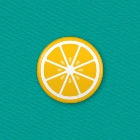 Lemon Slice Button Badge
