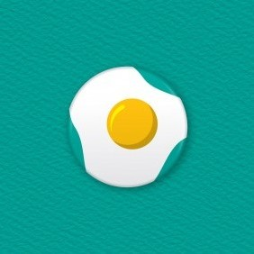 Egg Button Badge