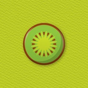 Kiwifruit Button Badge