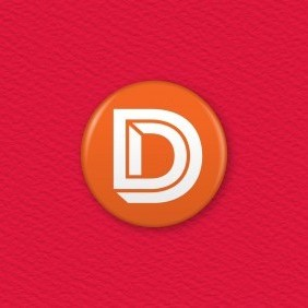 Letter D Button Badge