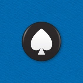 Playing Cards – Spades Button Badge