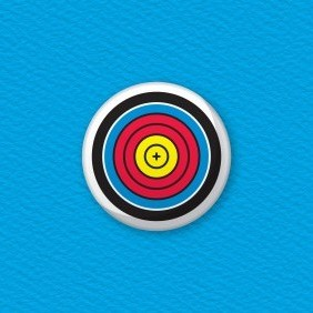 Archery Target Button Badge