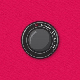 Camera Lens Button Badge