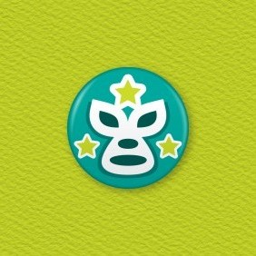 Mexican Lucha Libre Wrestling Mask Button Badge