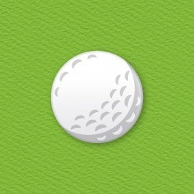 Golf Ball Button Badge