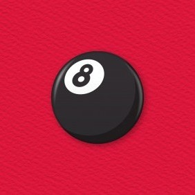 8 Ball Button Badge