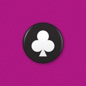 Playing Cards – Clubs Button Badge